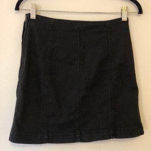 Free People Denim Black High waisted Skirt